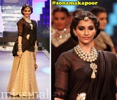 Bollywood's very own fashionista extraordinaire (and MissMalini Fashion Awards winner), Sonam Kapoor, looked resplendent as she walked the ramp for the India International Jewelry Week Grand Finale. She wore a beautiful maang-tikka by Amrapali, and traditional uncut diamond neck-piece & cuffs by Sunita Signature Line Jewels. Her outfit was by Anamika Khanna, one of Sonam's favorite designers. Hot [...]