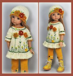 OOAK Yellow outfit from maggie_kate_create ends 8/22/14. SOLD for $136.99