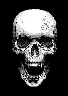 Skull by Callum Forster, via Behance