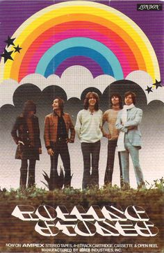 """Rolling Stones - US promo poster. 1974? Scanned from """"The Art of Classic Rock"""" by Paul Grushkin"""