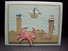 """This is for my brother's birthday today- his last beginning with a 5!! Stampin Up! 'By the Seashore"""".  http://nanakcreates.stampinup.net"""