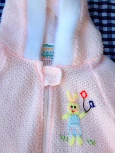 70s Bunny Baby Sleeper 912 Months by lishyloo on Etsy, $10.00