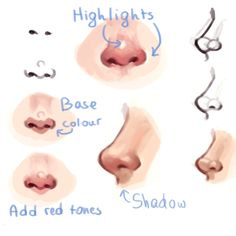 New drawing tutorial face nose 47 Ideas Nose Drawing, Drawing Tips, Drawing Techniques, Drawing Faces, Drawing Hair, Drawing Ideas, Sketch Ideas, Lip Drawings, Anime Face Drawing