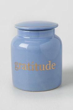Ceramic Gratitude Jar | Stationery |                                              francesca's