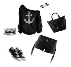 """""""525"""" by ekaterina-potapova on Polyvore featuring мода, Converse и GUESS"""