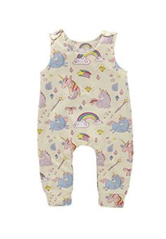 403e63995d37 Baby Girl Unicorn Outfits Sleeveless Romper Jumpsuit One Piece Clothes  Outfits  baby  babyclothes