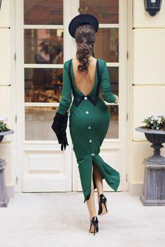 ideas dress evening elegant classy chic for 2019 Vestidos Vintage, Vintage Dresses, Vintage Outfits, Vintage Fashion, Classy Dress, Classy Outfits, Chic Outfits, Classy Chic, Chic Dress