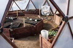 inside geodesic greenhouse