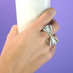 buymadesimple.com: Silver Tweedledum Bow Tie Ring