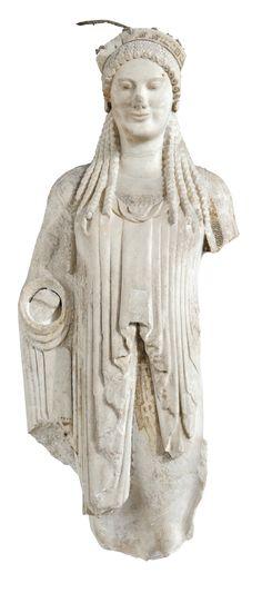 Koré. Acropole d'Athènes, 520-510 avant notre ère, Musée de l'Acropole, Athènes