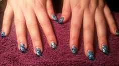 Who says crystals dont stay on?? 3 weeks & they are still on Shellac follow on facebook Jewels Not Tools By Kelly ♥