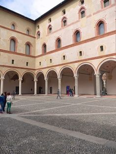 One of the courts inside the Sforza Castle of Milan (italy). Visit web site for more pictures!