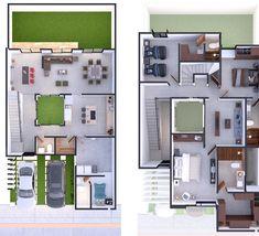 Duplex House Plans, House Layout Plans, My House Plans, House Layouts, House Floor Plans, Loft Floor Plans, Home Design Floor Plans, House Outer Design, Modern House Design