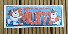 Mum Christmas Card by TheBlenheimCardCo on Etsy