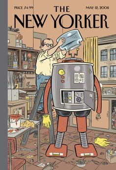"""The New Yorker - Monday, May 12, 2008 - Issue # 4262 - Vol. 84 - N° 13 - « The Innovators Issue » - Cover """"Man's Best Friend"""" by Dan Clowes"""