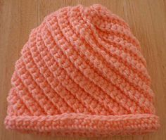 Free Crocheted Baby Swirls Hat Pattern