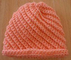 Free Crocheted Baby Swirls Hat Pattern