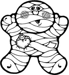 Mummy With Goofy Ghost Coloring Page