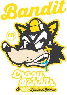 Crazy Bandit's & Co. (TM) Clothing Line by Jason Arroyo , via Behance