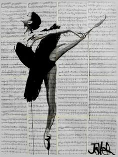 """""""the black tutu"""" by Loui Jover; Ink  Drawing"""