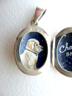 Pet Portrait Necklace, Hand-Painted in Sterling Silver Locket, Custom Gift Made to Order