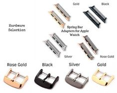 Listing is for a pair of Spring Bar Adapters and Buckle set compatible with Apple Watch & If you select for the watch adapter size then it will come with Buckle. If you select for the watch adapter size then it will come with Buckle. Apple Watch Silver, Apple Watch Leather, Silver Apples, Apple Watch Bands 42mm, Apple Watch Series 1, Natural Leather, Cute Jewelry, Cow Leather, Black Silver