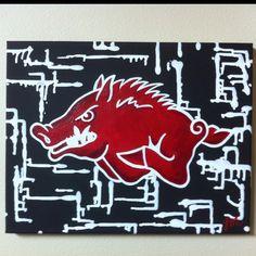 Razorback painting by Lane McKinley