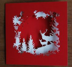 CutLaserCut Christmas Card - Laura Barrett - Illustration Portfolio - London Based Freelance Silhouette & Pattern Illustrator