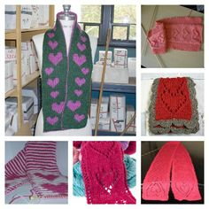 knit a scarf with heart