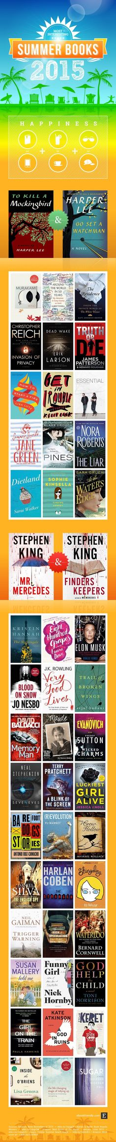 Best summer reads 2015: Harper Lee, Stephen King, and over 40 other authors
