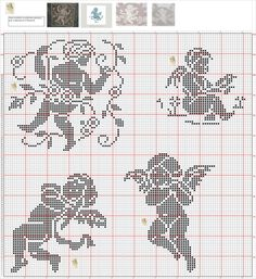 Cross Stitch Owl, Cross Stitch Angels, Cross Stitching, Cross Stitch Embroidery, Cross Stitch Patterns, Crochet Patterns, Stitch And Angel, Christmas Embroidery Patterns, Crochet Angels