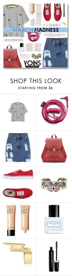 """Yoins"" by tasnime-ben ❤ liked on Polyvore featuring Whiteley, Vans, Bobbi Brown Cosmetics, Marc Jacobs, Deborah Lippmann and yoins"