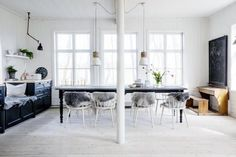 Kitchen in a dreamy, rural Swedish summer cottage belonging to Erica Franzén.