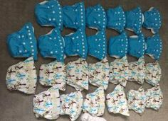 FOR SALE: 26 gently used natural AIOs, newborn size. Shipping included. | Cloth Diaper Trader
