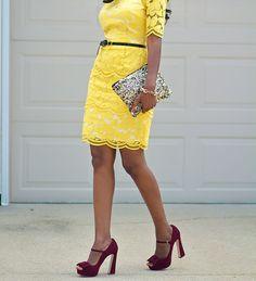 Yellow lace dress Latest African Fashion, African Prints, African fashion styles, African clothing, Nigerian style, Ghanaian fashion, African women dresses, African Bags, African shoes, Nigerian fashion, Ankara, Aso okè, Kenté, brocade etc ~DK