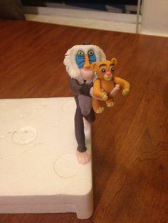 Rafiki and Simba fondant characters
