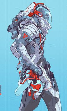 character art cyberclays: Moonwalker - by Brian Sum Arte Sci Fi, Sci Fi Art, Arte Cyberpunk, Cyberpunk Anime, Character Concept, Character Art, Game Character Design, Art Science Fiction, Concept Art Landscape
