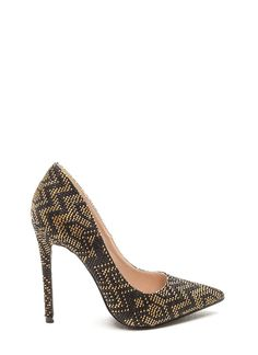 Far And Away Woven Pumps