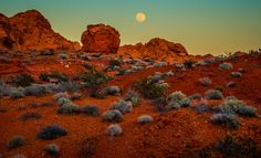 Photograph Valley of Fire Moonrise by Derek Kind on 500px