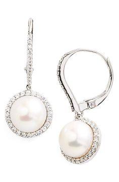 Lafonn'Lassaire' Pearl Drop Earrings
