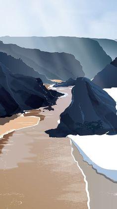 Easy Canvas Art, Hand Illustration, Gw, Pattern Wallpaper, Geology, Art Lessons, Drawing Ideas, Art Inspo, Sunrise