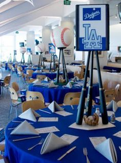 These Baseball Centerpieces Are A Home Run & Cute World Series Party Ideas | Baseball centerpiece Centerpieces ...