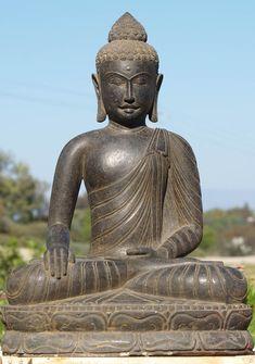 """View the Stone Serene Garden Buddha Statue 36"""""""