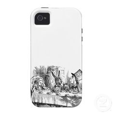 Vintage Alice in Wonderland Mad Hatter tea party iPhone 4/4S Cover