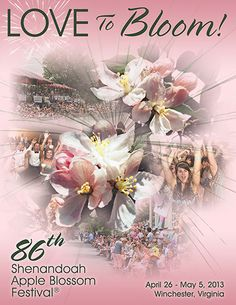 (86th Shenandoah Apple Blossom Festival Program Cover). The six-day annual festival held annually in Winchester, Virginia celebrates the advent of spring in the Shenandoah Valley.