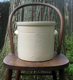 Antique Stoneware Crock - you can never have too many!