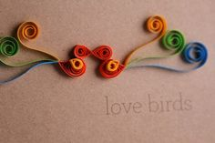 $5 Quilled Paper Wedding/Engagement Card