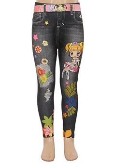 E4U Girls Awesome Anime Cinderella Printed Printed Leggings. Available in three sizes: S, M, and L.