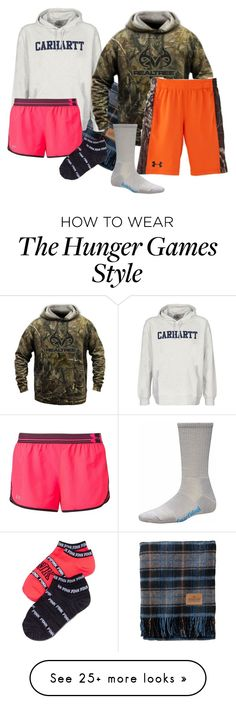 """hunger games marathon with my boy❤"" by dirtroadprincess on Polyvore featuring Pendleton, Carhartt, Under Armour and Realtree"