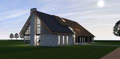 Nieuwbouw moderne langgevelboerderij te Reusel